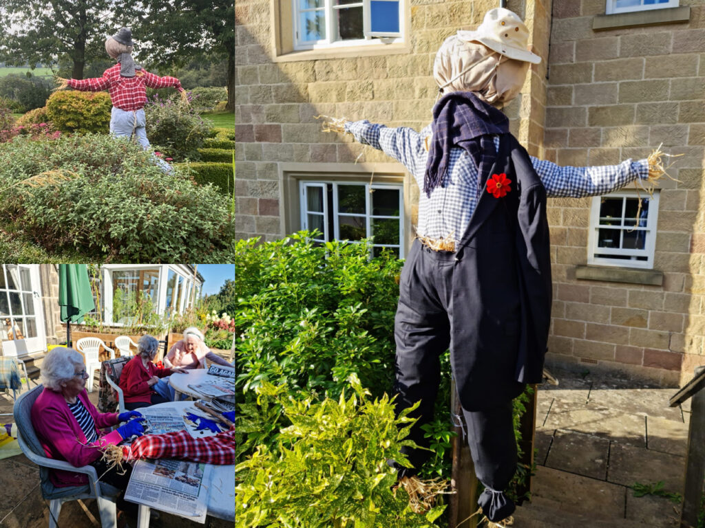 Scarecrow festival inspires residents at Holbrook Hall residential care home.