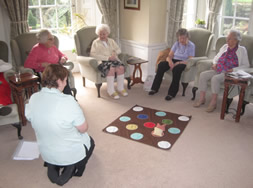 Games morning at Holbrook Hall Residential Care Homes in Derbyshire